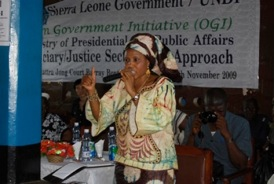 Ms. Sesay, determined to strengthen media and CSOs