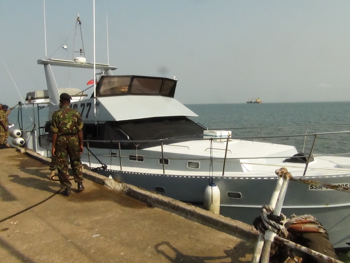 JMS 77 patrolling vessel on display at Government Wharf