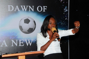 Awoko and Mrs. Johansen: much is expected of the FA boss