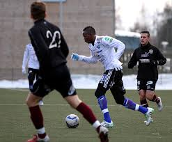 Albert Kargbo in action for his club side Friskaviljor