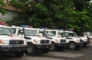 The loaned ambulances to aid the country's Ebola fight