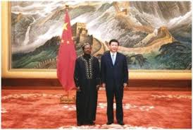 Ambassador Victor Foh and Chinese President Xi Jinping