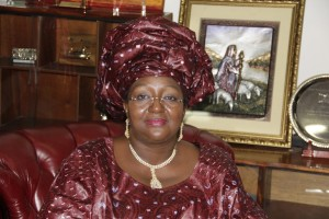 First Lady Mrs. Sia Nyama Koroma, concerned about teenage pregnancy and violence against girls