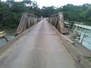 The dilapidated Gbere Bridge