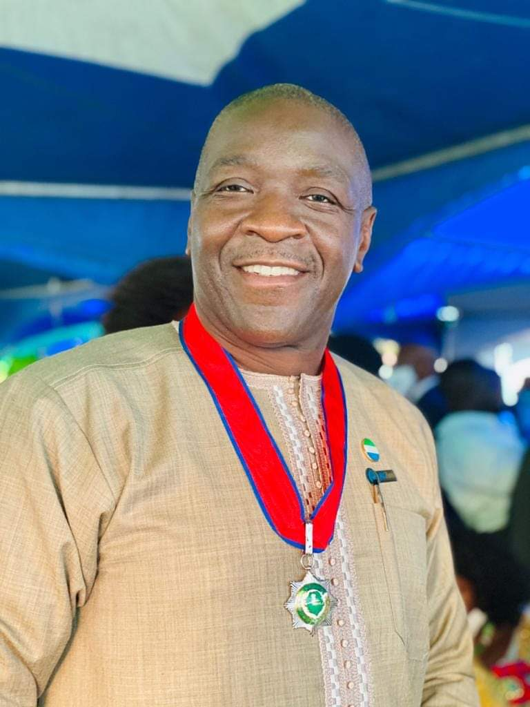 Held in High Esteem by Pres. Bio… Dr. Walton Ekundayo Gilpin Awarded  Commander of the Order of the Rokel (COR) - The Calabash Newspaper Sierra  Leone